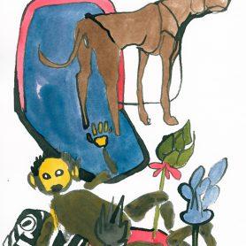 Bunter Hund